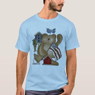 Camiseta Urso de ursinho 4o de t-shirt de julho