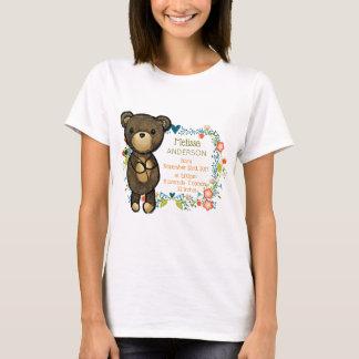 Camiseta Urso de ursinho bonito com nascimento do bebê dos