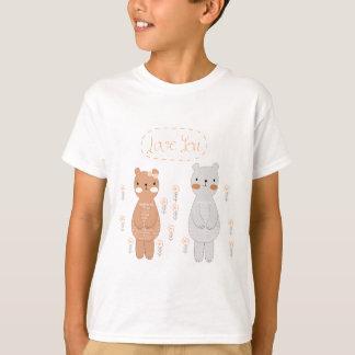 Camiseta Urso de ursinho bonito do casal dos namorados dos