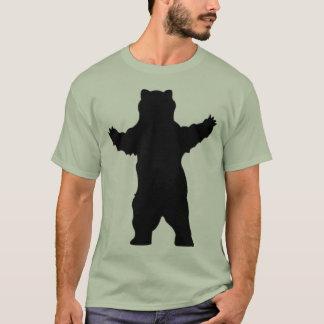 Camiseta urso de urso da silhueta