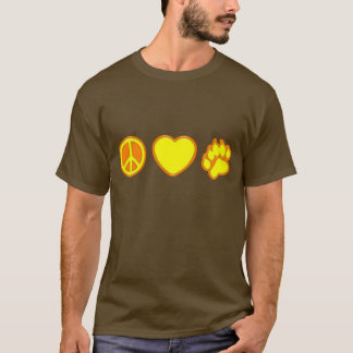 Camiseta Urso do amor da paz