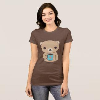 Camiseta Urso do bebendo do café