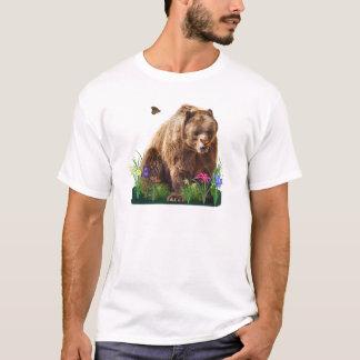 Camiseta Urso e borboletas da fantasia customizáveis