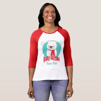 Camiseta Urso Huggable do Natal do inverno de Beary