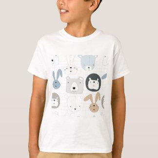 Camiseta Urso, leão e coelho de ursinho animal bonito dos