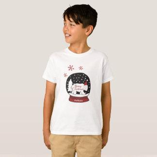 Camiseta Urso polar do chapéu do papai noel do Natal de