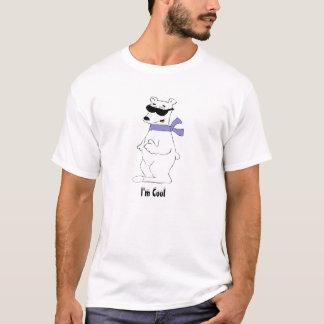 Camiseta Urso polar dos desenhos animados no lenço e nas