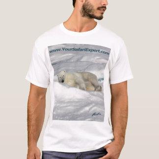 Camiseta Urso polar no gelo de bloco (design da parte