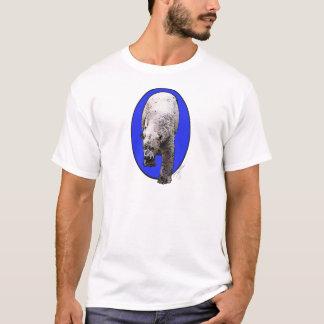 Camiseta Urso polar no impressão oval azul