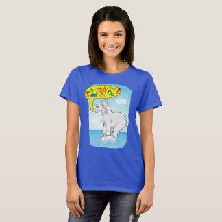 Camiseta Urso polar que diz as palavras más que estão no