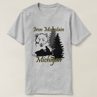 Camiseta Urso SS cinzentos do Snowmobile de Michigan da