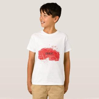 """Camiseta Urso vermelho da """"coragem"""""""