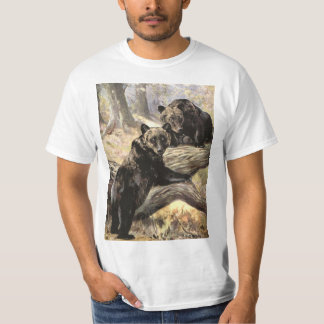 Camiseta Ursos de urso pela cisne do CE, animais da