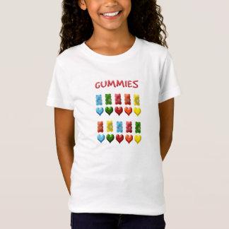 Camiseta Ursos gomosos, corações da geléia