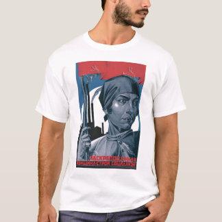 Camiseta URSS, russo, soviete, propaganda