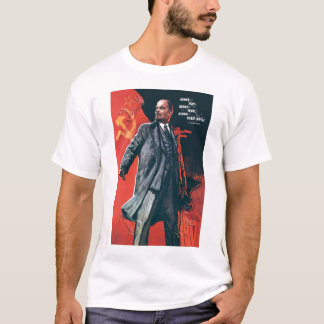 Camiseta URSS, russo, soviete, propaganda, Lenin