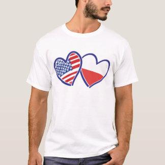 CAMISETA USA-POLISH-FLAG-HEARTS
