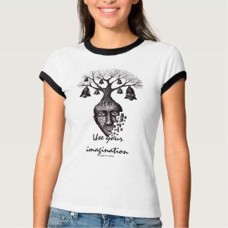 Camiseta Uso abstrato da árvore seu t-shirt legal da
