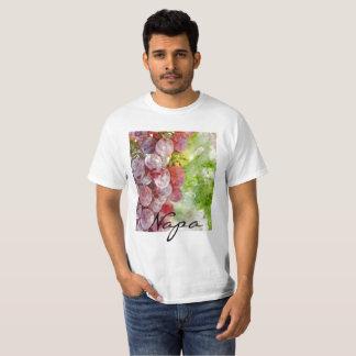 Camiseta Uvas roxas da aguarela de Napa Valley.