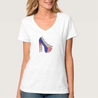 Camiseta V-pescoço conservador de Momma