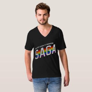 Camiseta V-Pescoço da SAGA de MSOE