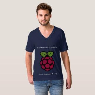 Camiseta V-Pescoço do Pi da framboesa