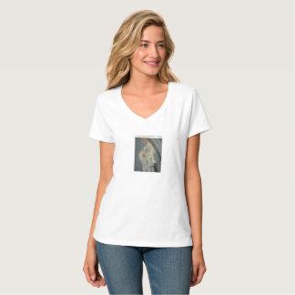 Camiseta V-Pescoço Nano T-Shir do Hanes das mulheres do