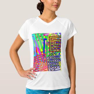 Camiseta V-Pescoço seco dobro T-Shir do treinamento das