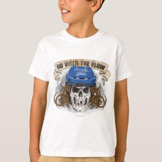 Camiseta Vá com o azul do fluxo (cabelo do hóquei)