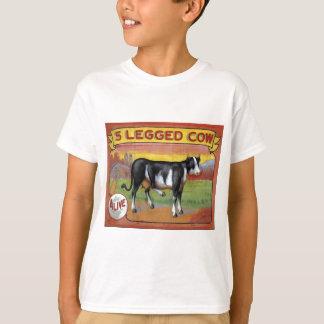 Camiseta Vaca cinco equipada com pernas