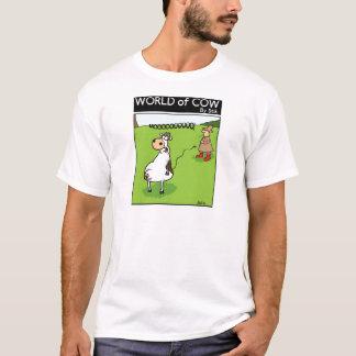Camiseta Vaca da tração da cauda
