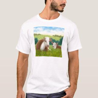Camiseta Vaca e vitela de Hereford