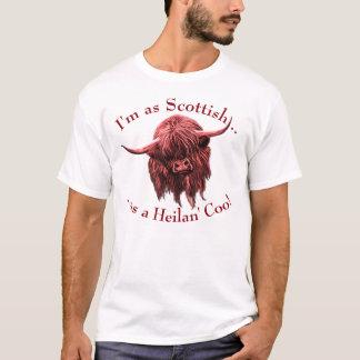 Camiseta Vaca escocesa das montanhas. Coo de Heilan
