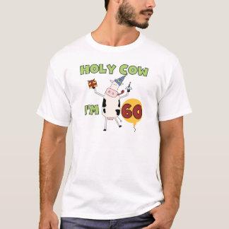 Camiseta Vaca santamente eu sou 60 t-shirt e presentes do