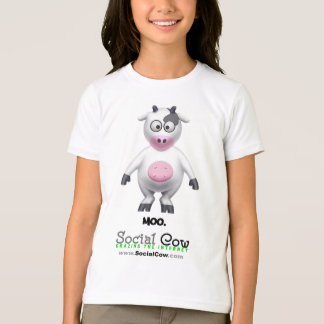 Camiseta Vaca social - retrato da vaca -