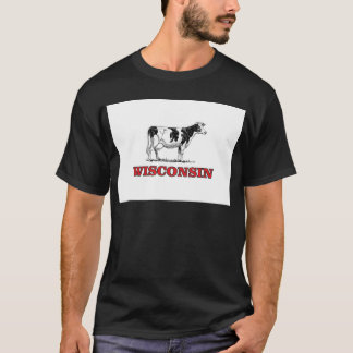 Camiseta vaca vermelha de Wisconsin