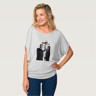 Camiseta Vagão & Bacall do Flowy das mulheres
