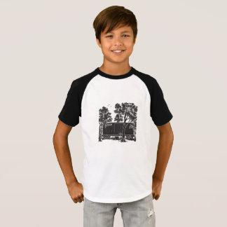 Camiseta Vagão coberto do clássico das crianças do vagão