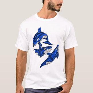 Camiseta Vagem de 3 orcas tribais