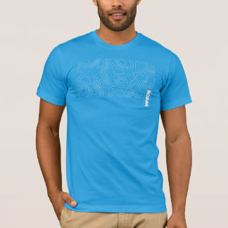 Camiseta VAGUEIE o mapa topográfico dos SOLDADOS do roupa