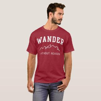 Camiseta Vagueie sem humor da aventura do divertimento da