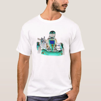 Camiseta Vai a cor invertida piloto de Kart