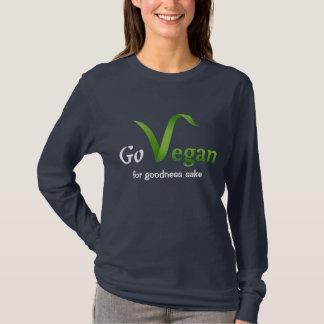 Camiseta Vai a luva longa do Vegan (para a causa dos bens)