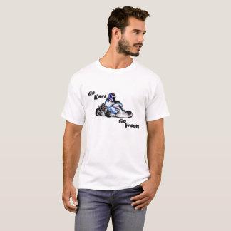Camiseta Vai Kart vai Vroom o T branco dos homens