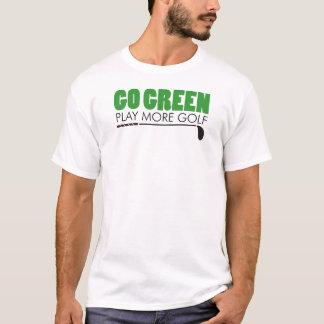 Camiseta Vai o jogo verde mais golfe