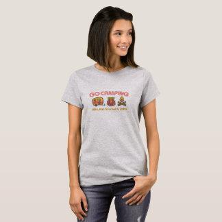 Camiseta Vai o t-shirt básico das mulheres de acampamento