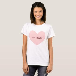 Camiseta Vai o t-shirt do coração do vegan