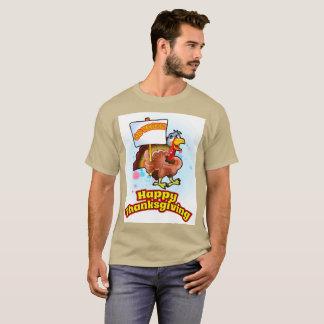 Camiseta Vai o t-shirt feliz da acção de graças do Vegan