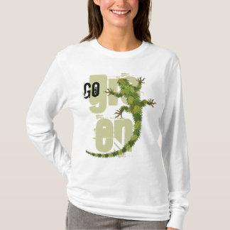 Camiseta Vai o t-shirt verde da iguana