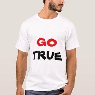 Camiseta Vai o texto vermelho & preto verdadeiro